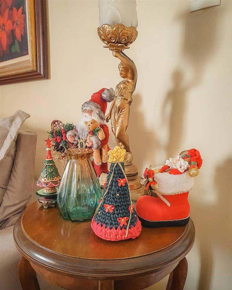 decoração de natal para sala com croche