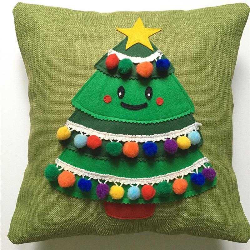 almofadas de feltro para natal