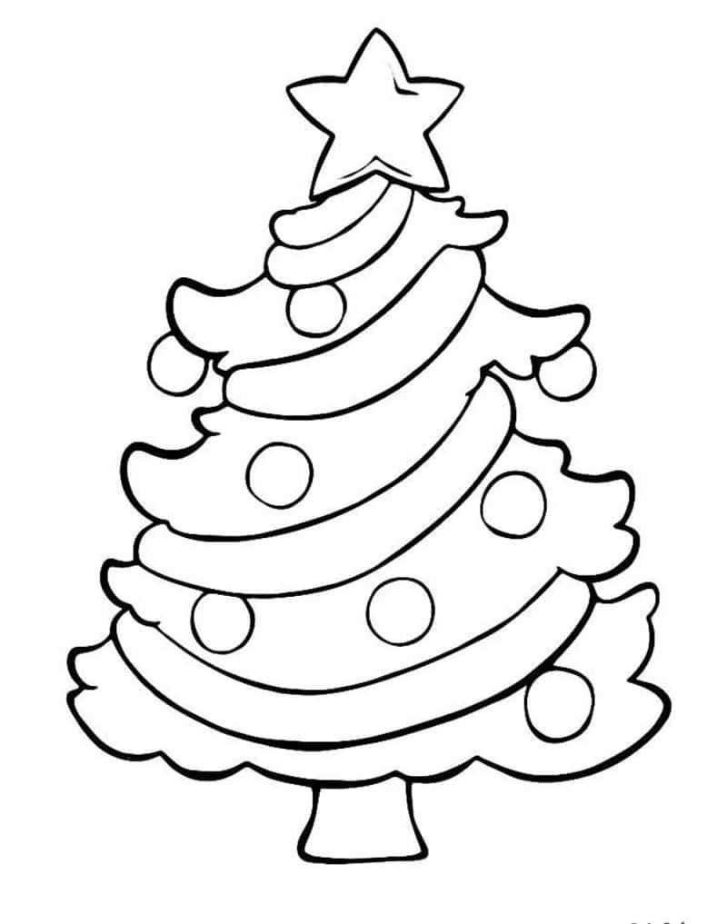desenhar uma árvore de natal no papel