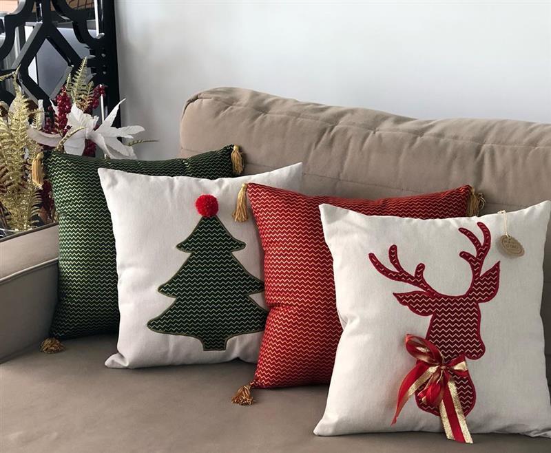 Almofadas de Natal em tecido
