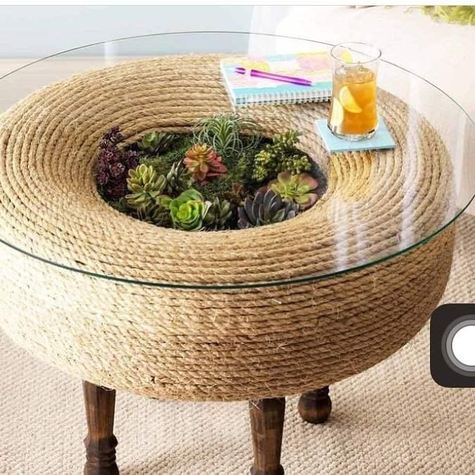 mesa com jardim