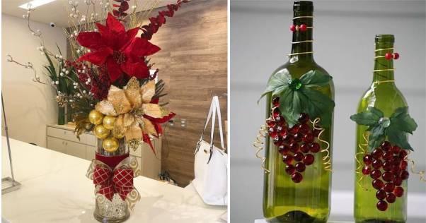 decoração mesa natalina