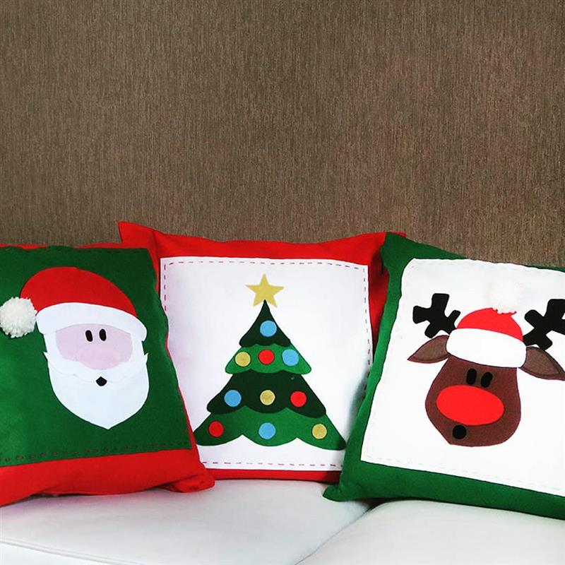 almofadas de natal em feltro