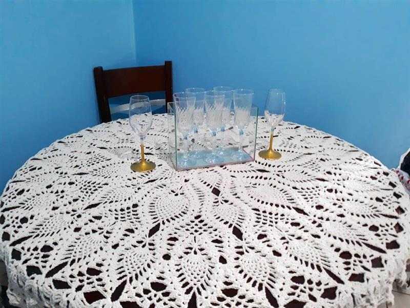 toalha de mesa de crochê abacaxi