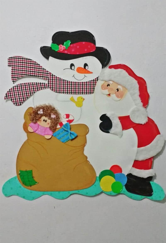 Enfeite de Natal para porta de sala de aula em EVA