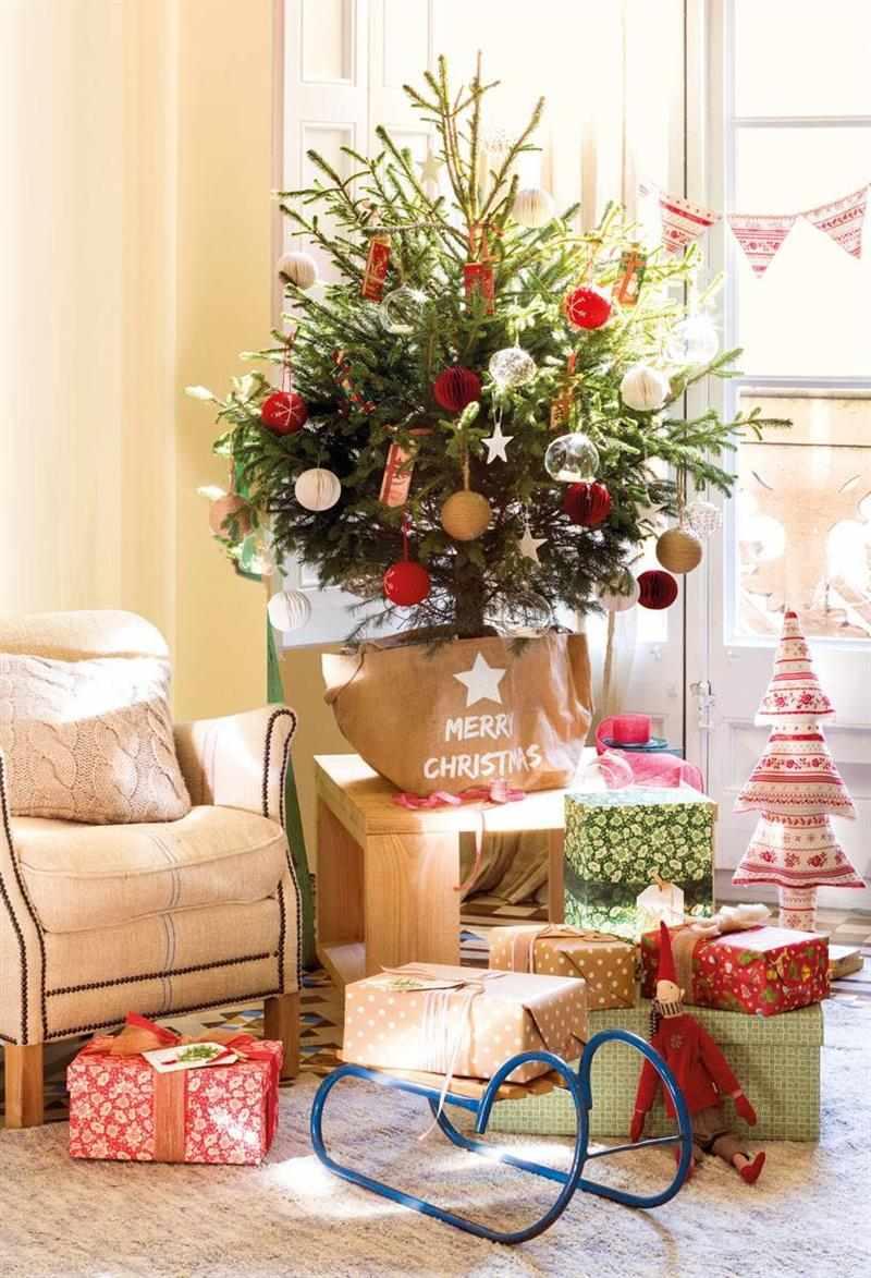 decoração de natal para sala de apartamento