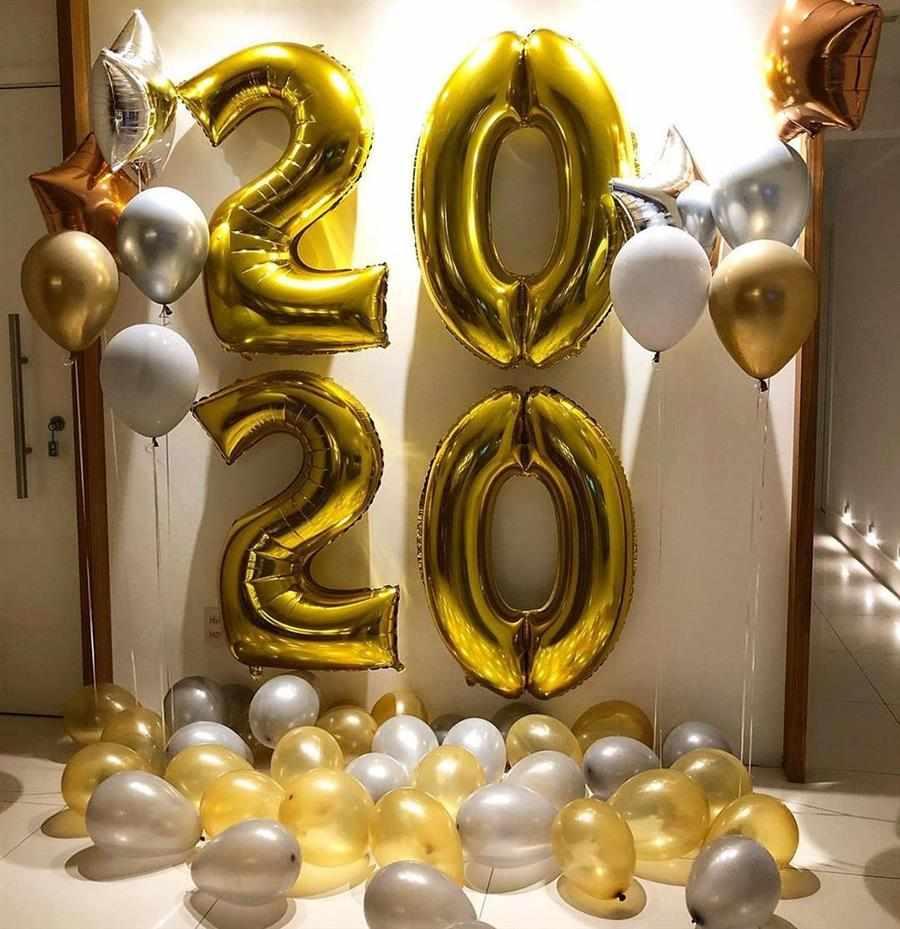 decoração de Réveillon com balões