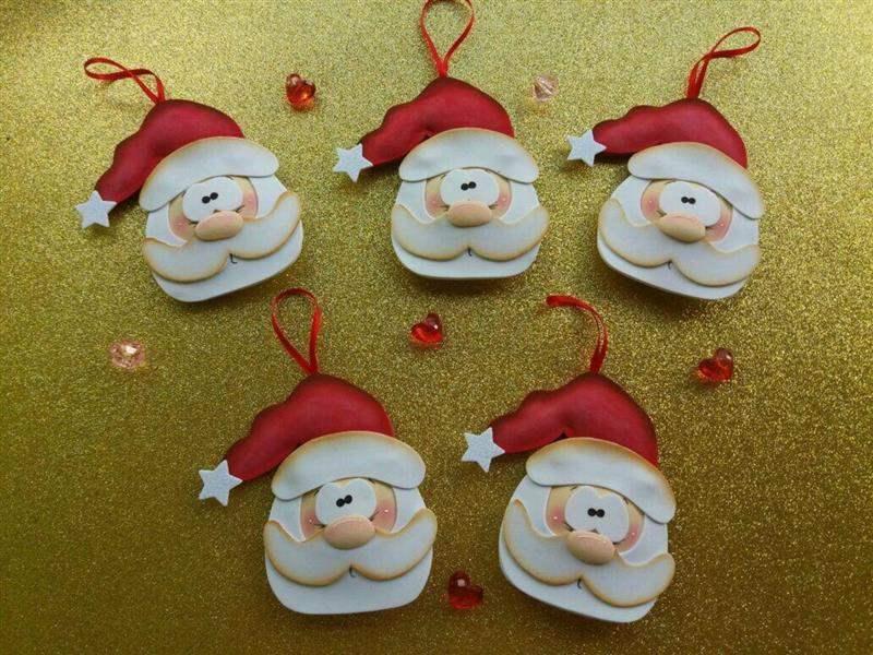 Enfeite de Natal Papai Noel em EVA