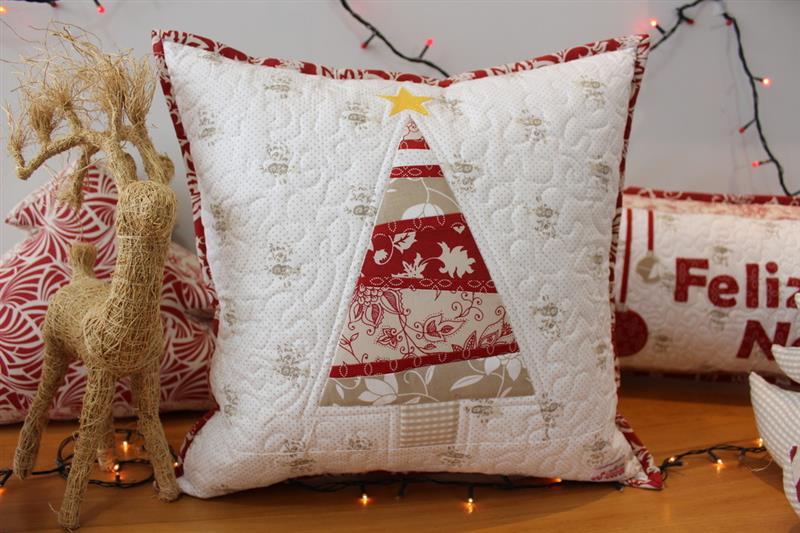 almofadas de natal patchwork