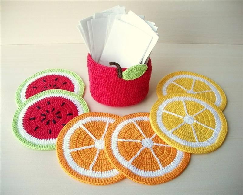 Porta copos de frutas