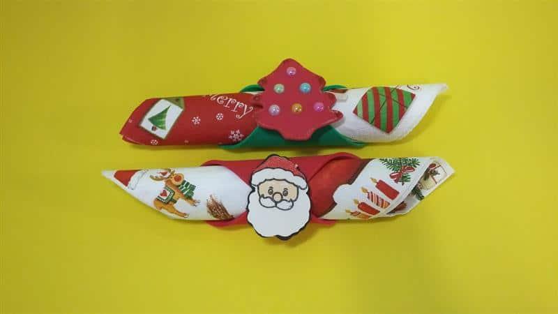 Porta guardanapo de Natal em EVA