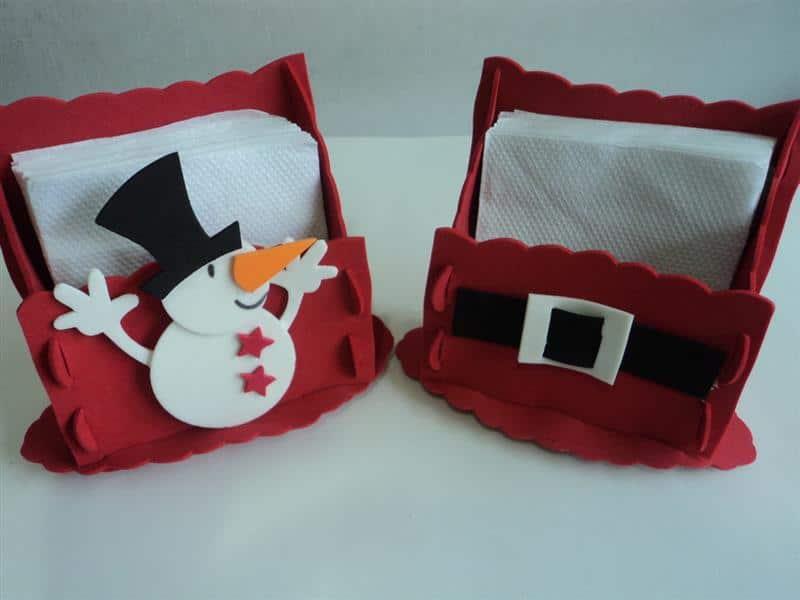 Porta guardanapo natalino em EVA