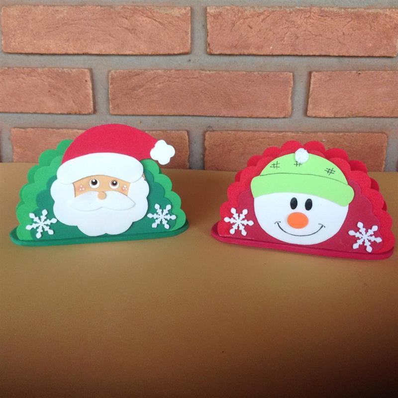 Porta guardanapo em EVA tema Natal