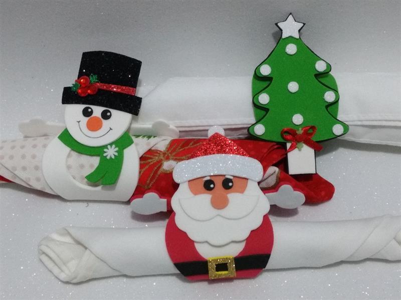 Enfeites de Natal em EVA para mesa