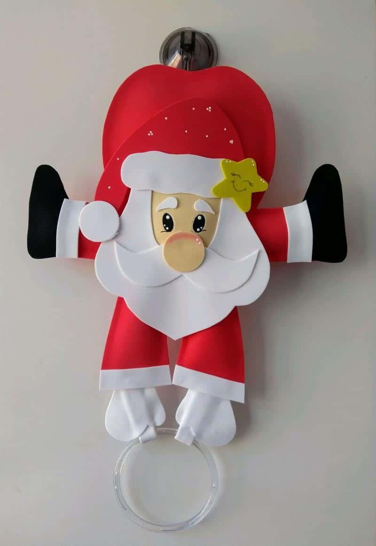 Porta pano de prato de Natal em EVA