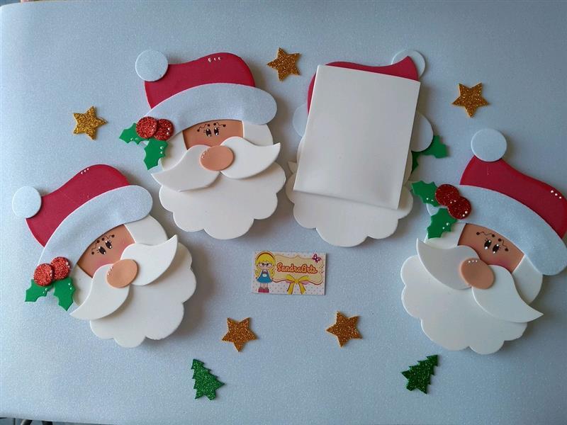 Porta talher de EVA de Papai Noel