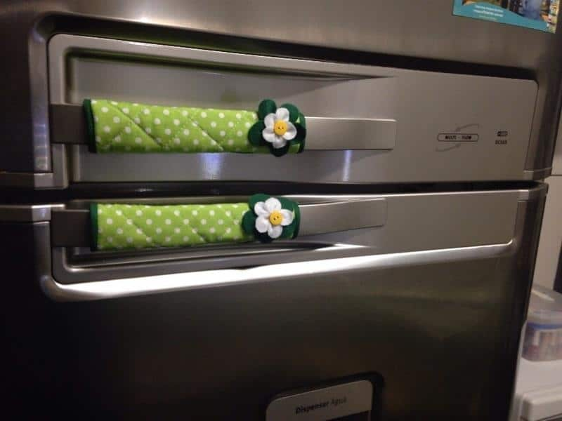 Puxador de geladeira de tecido