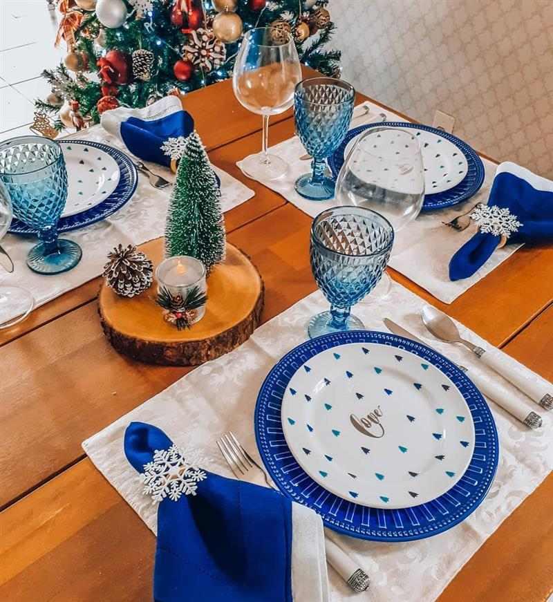 Centro de mesa natalino rustico