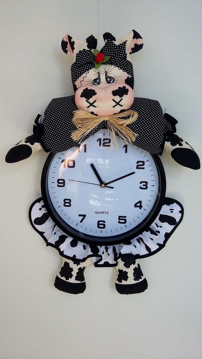 Relógio para cozinha decorado