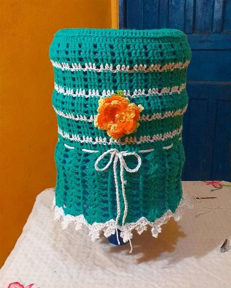 Capa para galão de água de crochê