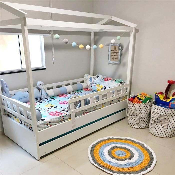 tapete de fio de malha para quarto de bebe