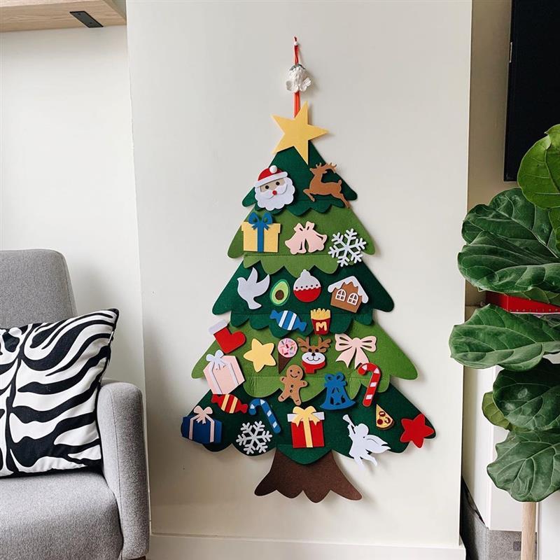 Árvore de Natal em feltro para parede