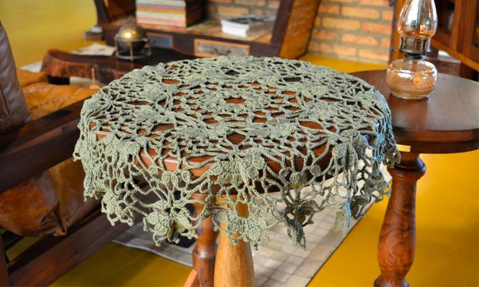 toalha de mesa de croche para iniciantes