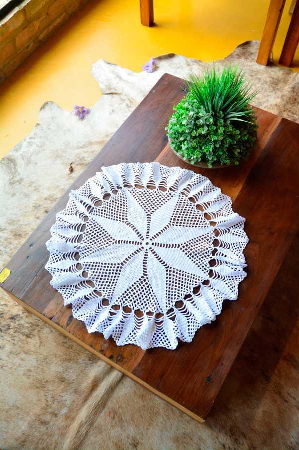 toalha estrela feita com fio amigurumi