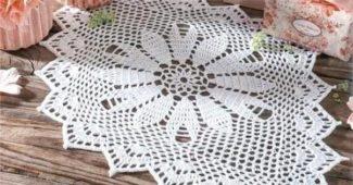 toalha de mesa em croche classica