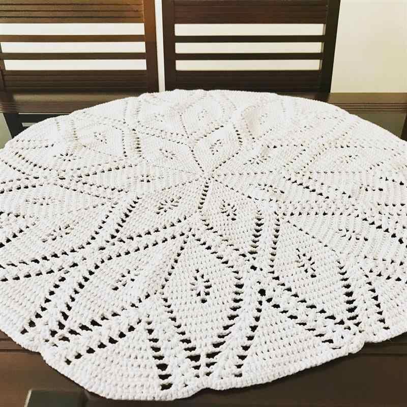 toalha de mesa de crochê fácil