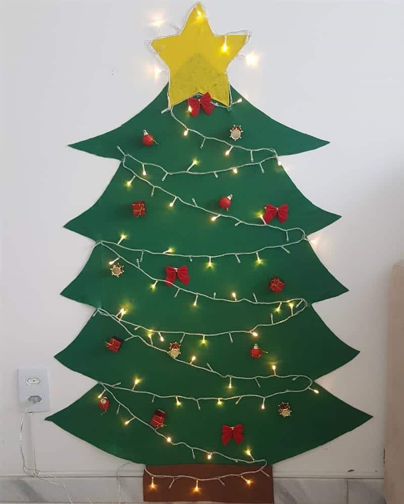 Árvore de feltro com LED