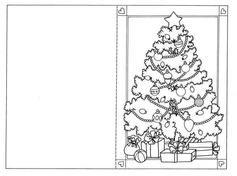 cartão de Natal para colorir e personalizar