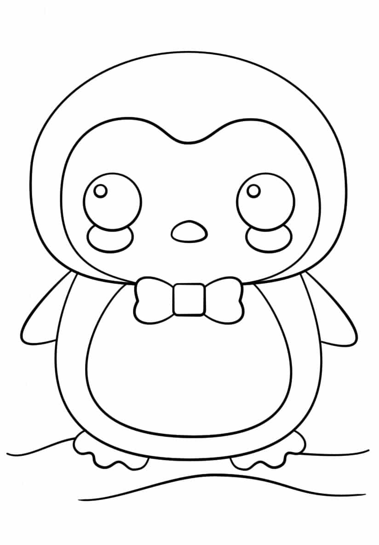 Desenho de pinguim