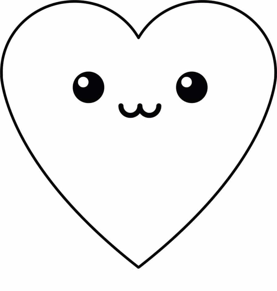 coração kawaii
