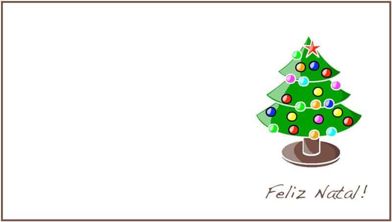 cartão de Natal para escrever