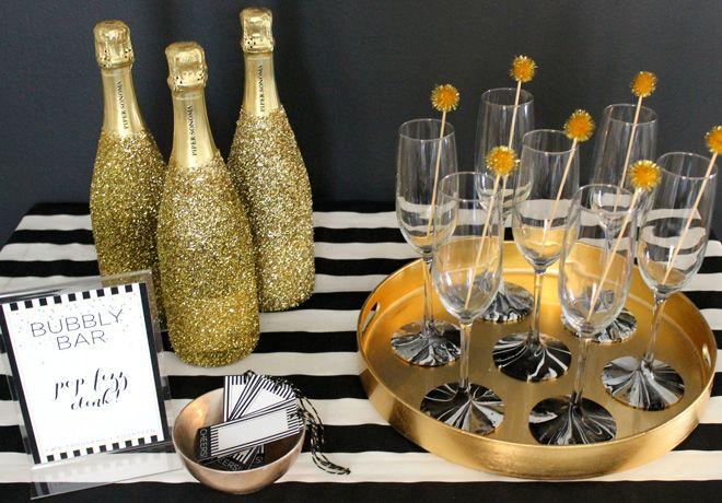mesa de bebidas decorada