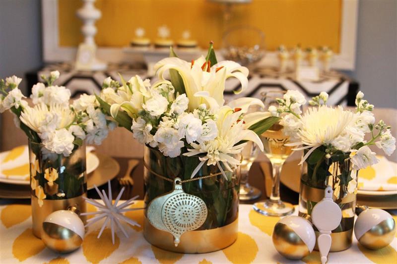 Enfeite de mesa de Ano Novo