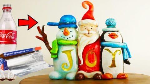 enfeites de Natal reciclados