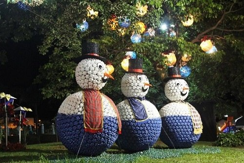 boneco de neve gigante