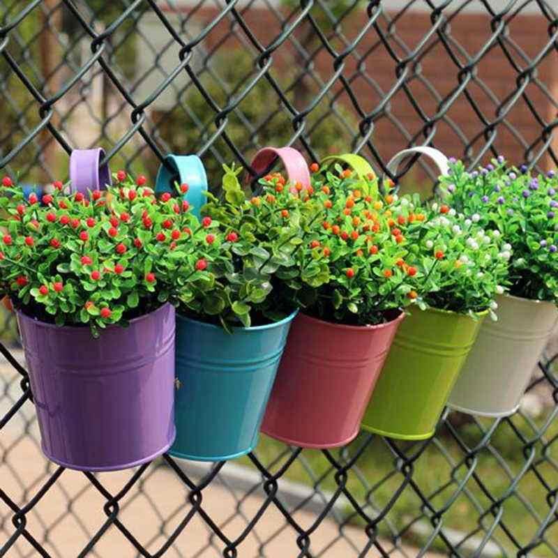 Vasos para jardim vertical com suporte
