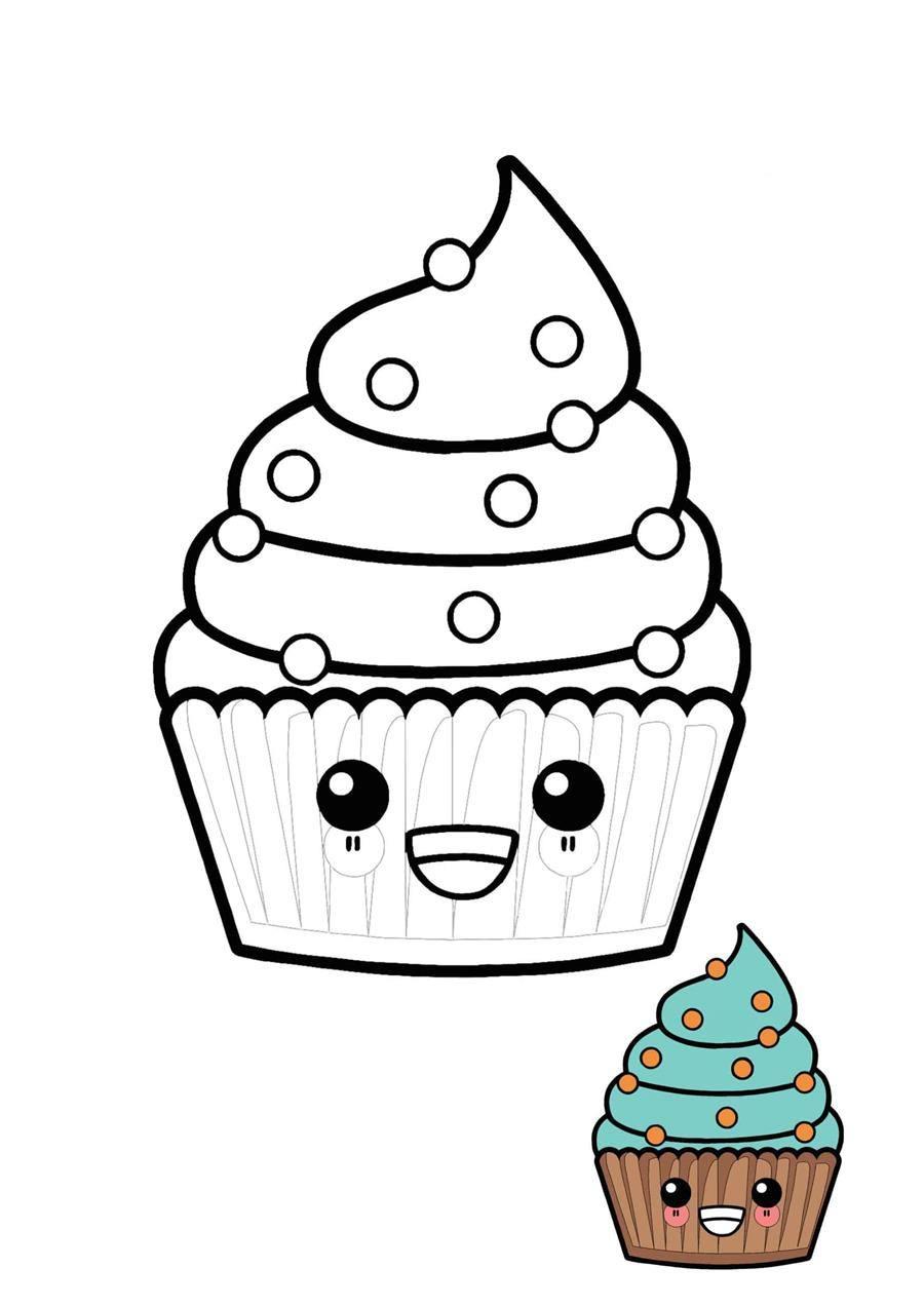 Desenho de cupcake