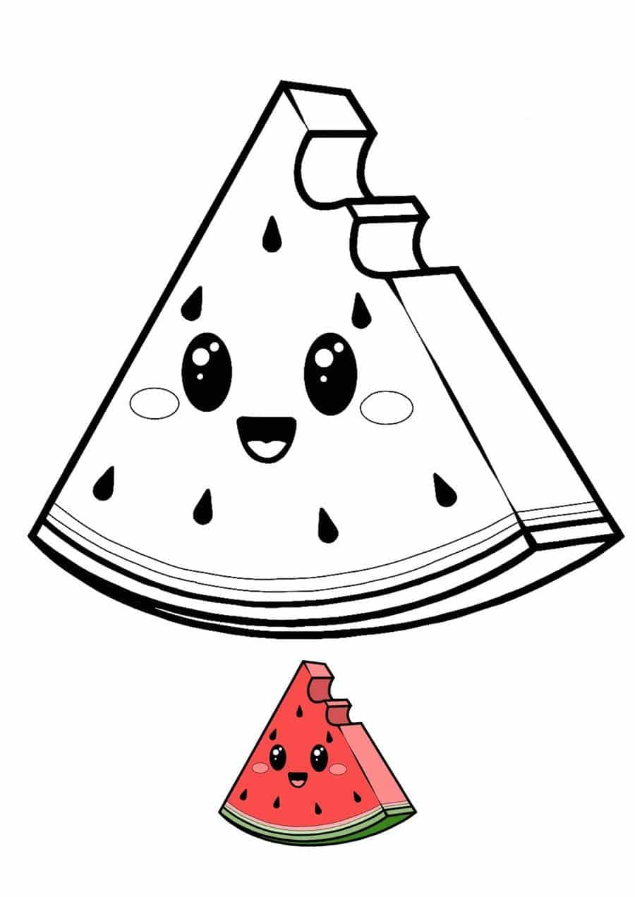 paper squishy de melancia