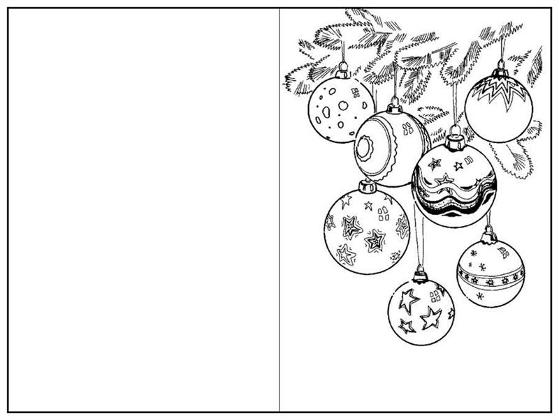 cartão de natal para colorir imprimir
