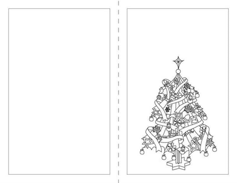 cartão de natal folha a4