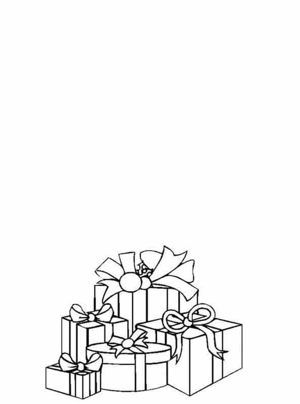 cartao com presentes de natal