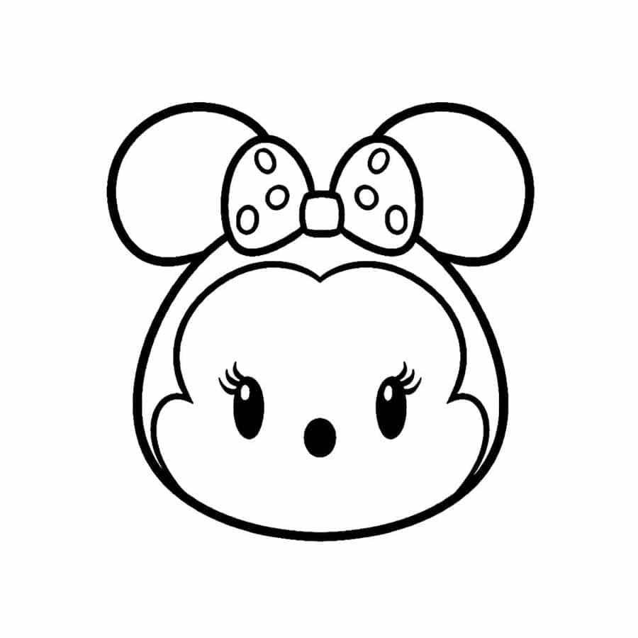 Minnie para colorir