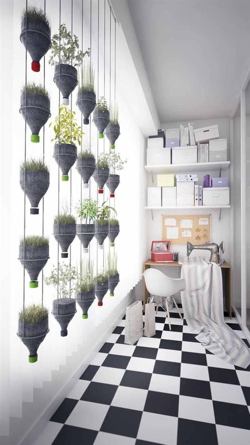 Vasos para jardim vertical de garrafa pet