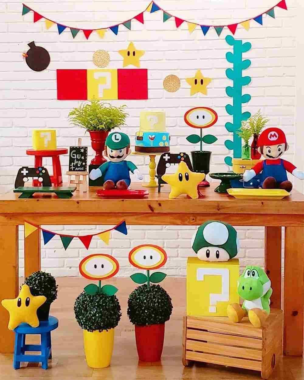 Festa infantil Super Mário