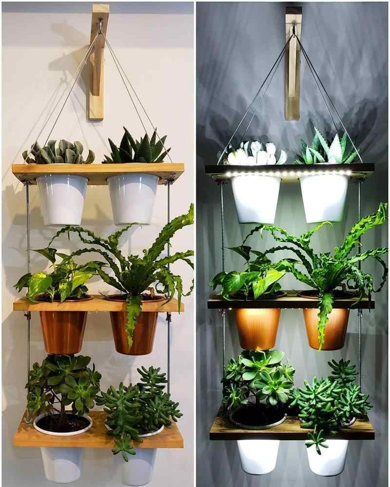 Vasos para jardim vertical pequeno