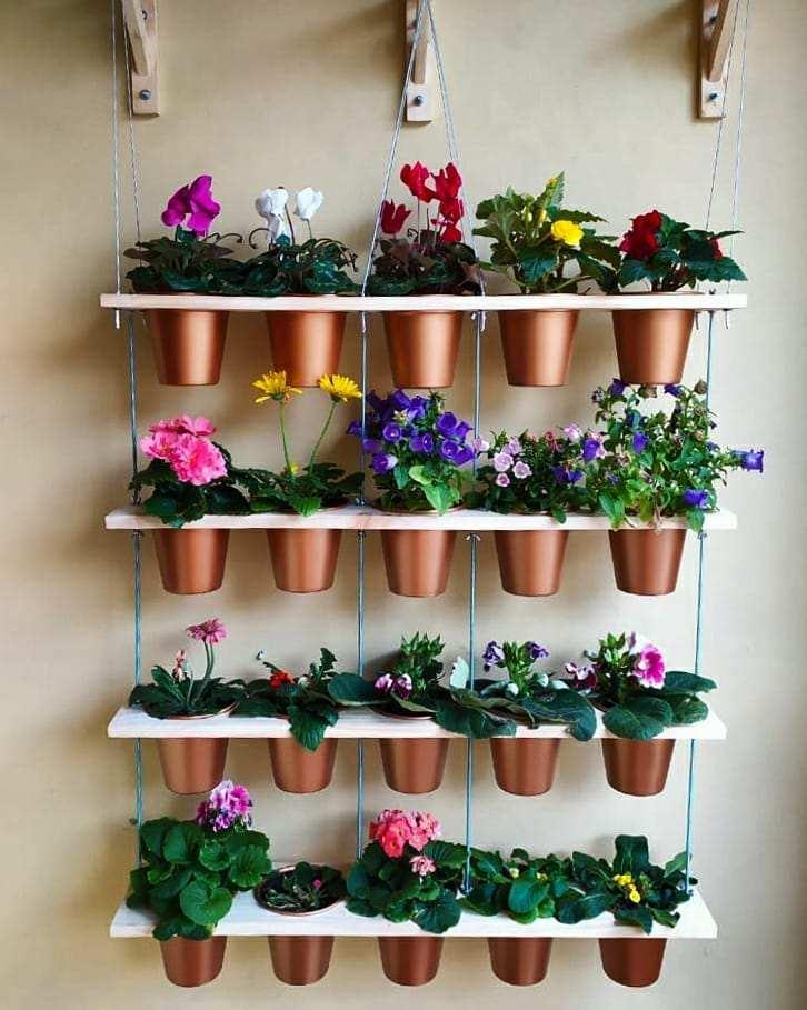 Vasos para jardim vertical de alumínio